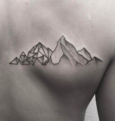 Geometric Mountain Tattoo
