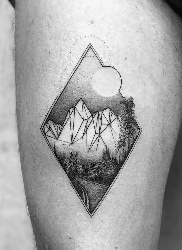 Geometric Nature Tattoo