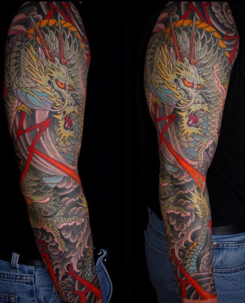 Japanese Dragon Tattoo Sleeve