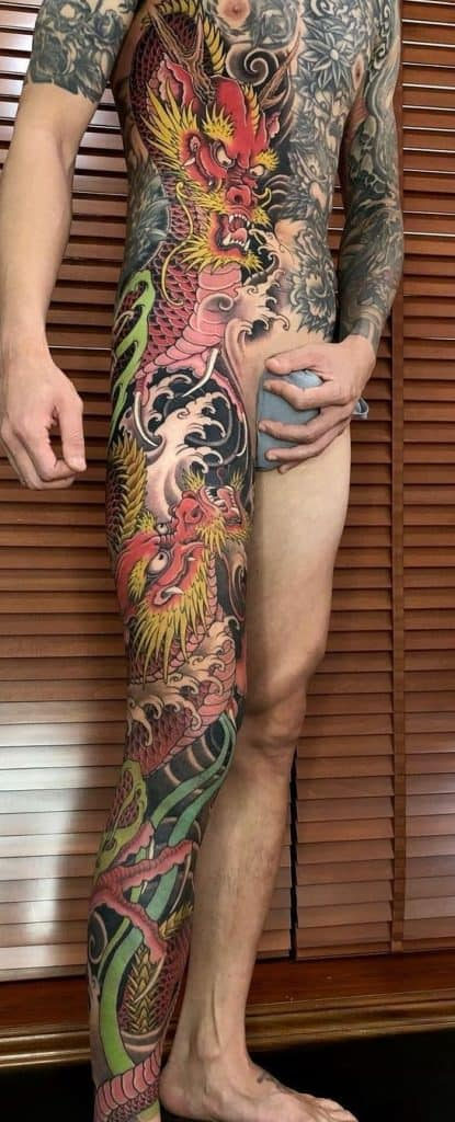 Japanese Red Dragon Tattoo