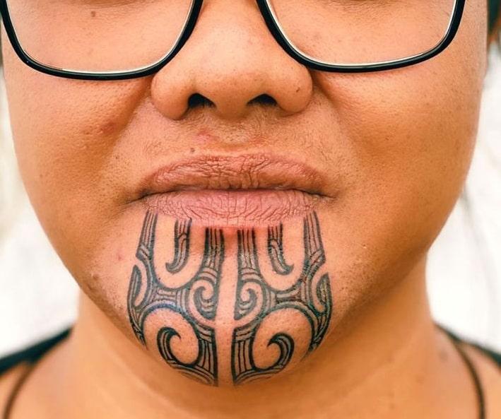 Maori Chin Tattoo