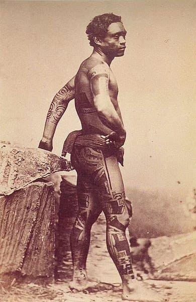 Marquesas Warrior Tattooed