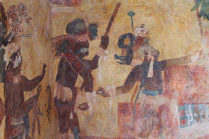 Mayan Painted Mural