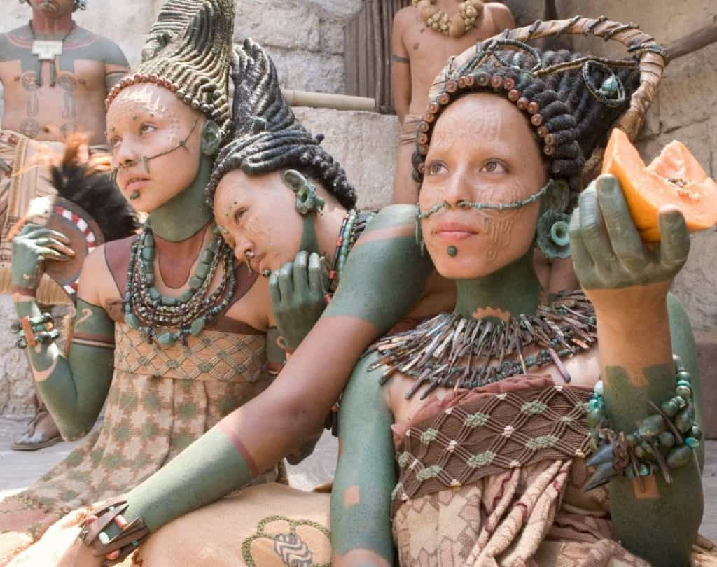 Mayan Women with Decorated Body