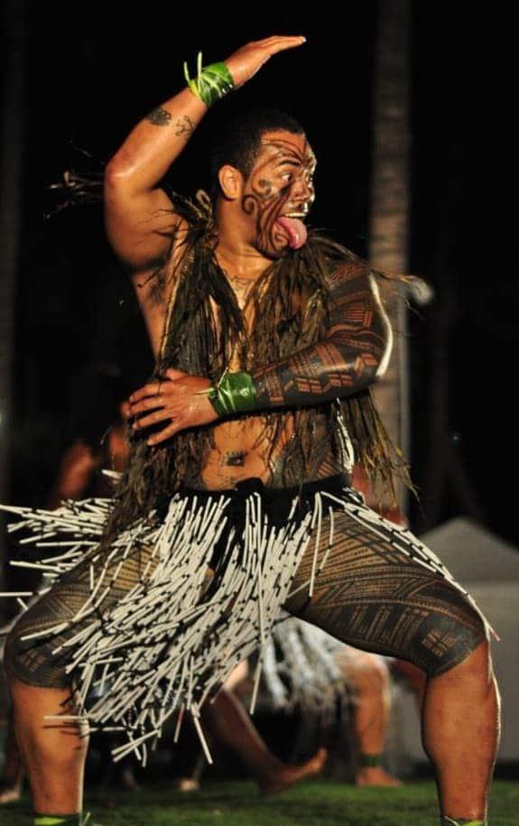 Polynesian Warrior Tattooed