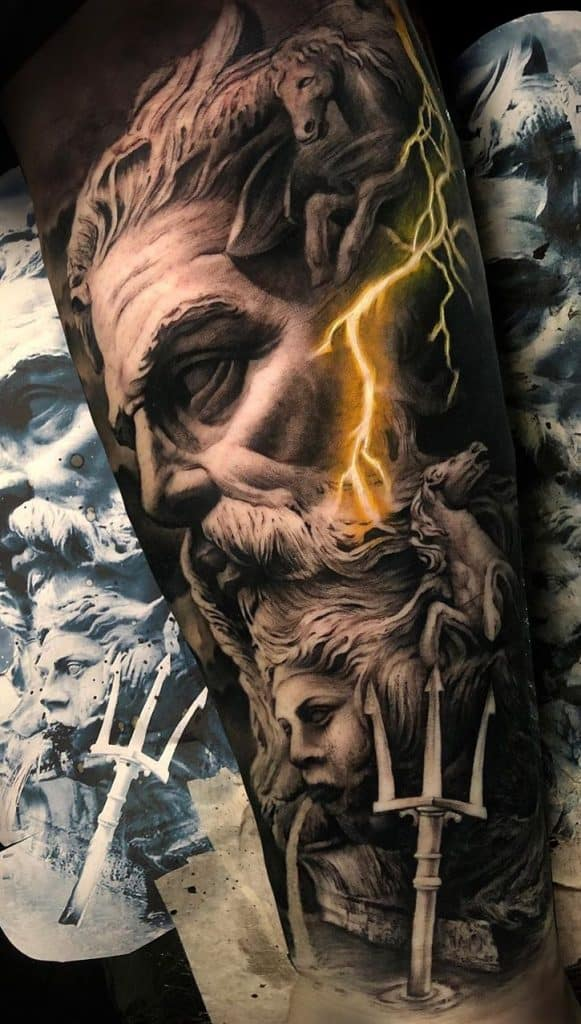 Portrait Greek Mythological Tattoo
