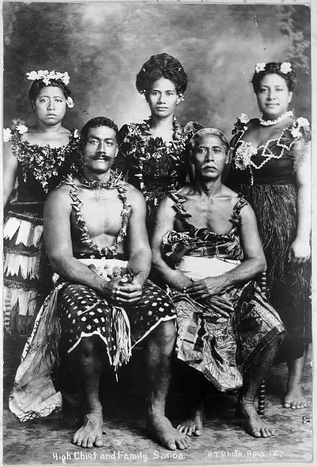 Samoan Chief Family