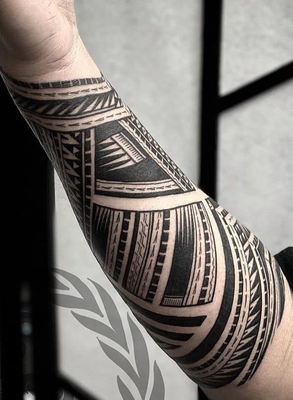 Samoan Shark Teeth Tattoo
