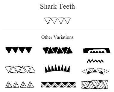 Samoan Shark Teeth Design
