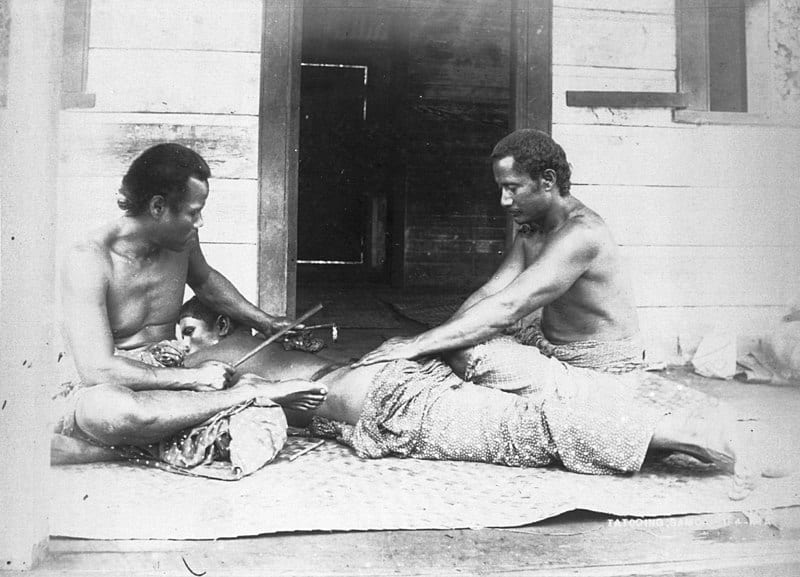 Samoan Tatau Process