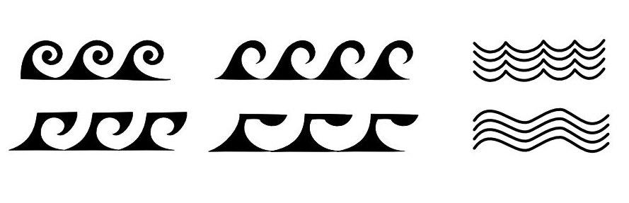 Samoan Waves and Water Symbols