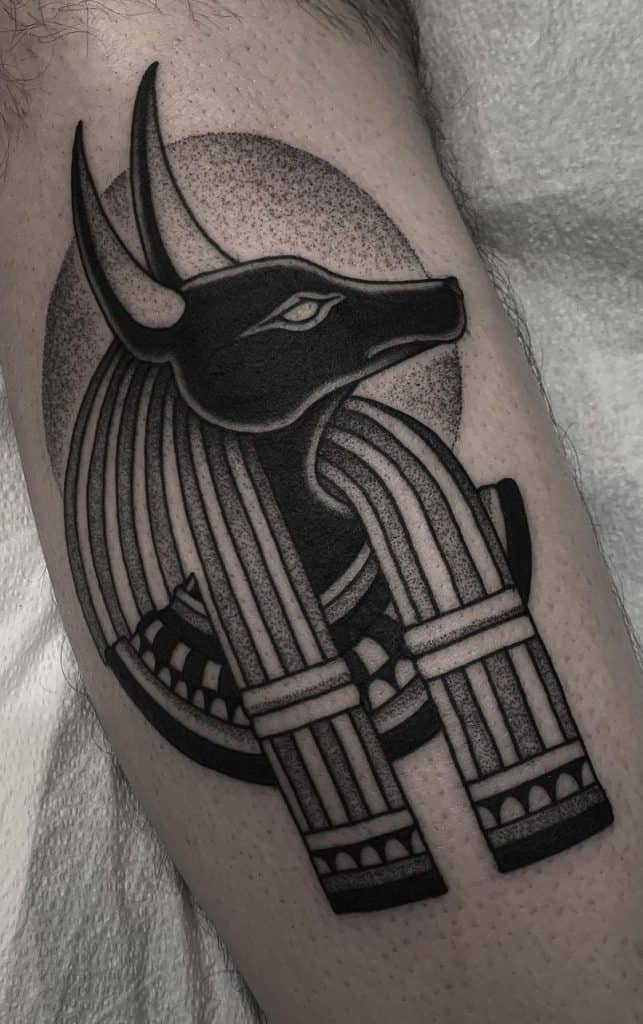 Simple Anubis Tattoo