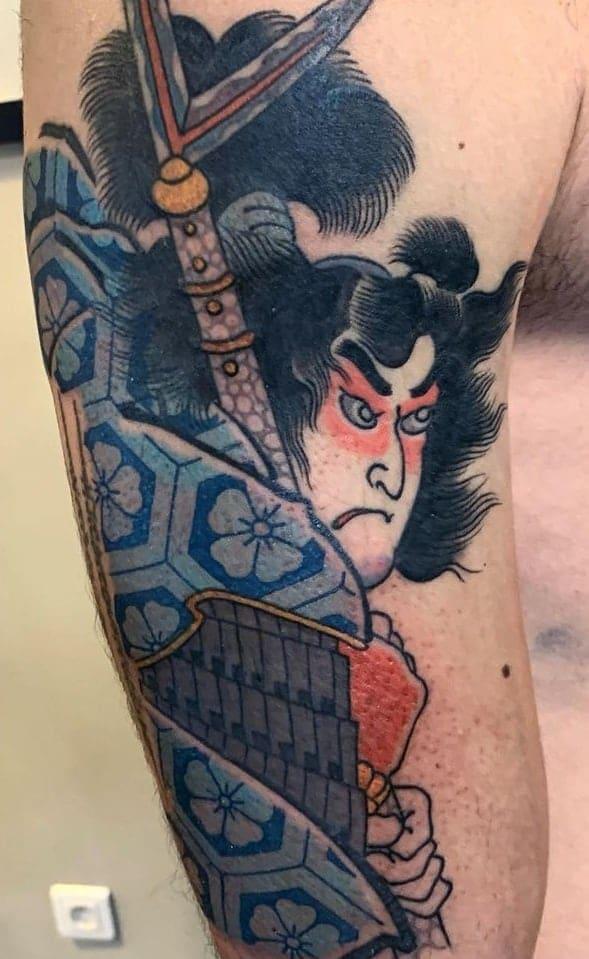 Tebori Samurai Tattoo