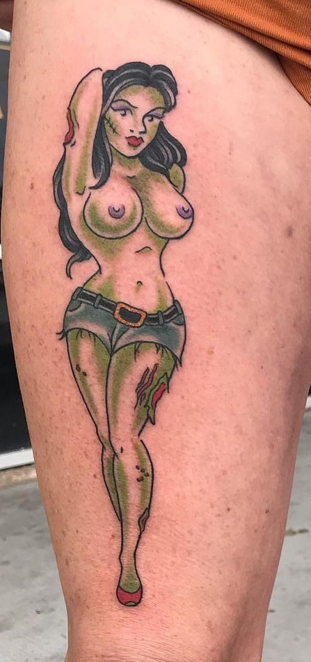 Zombie Pin-Up Girl Tattoo
