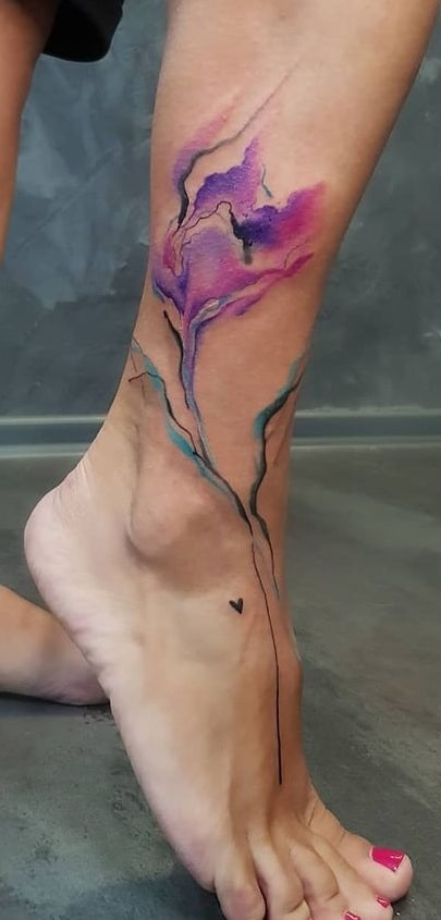 Abstract Flower Tattoo