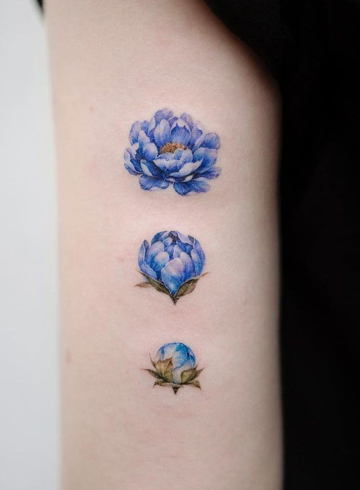 Blooming Flower Stages Tattoo