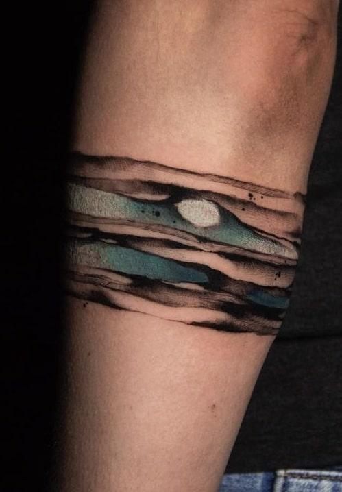 Dara Morgan's Watercolor Tattoo