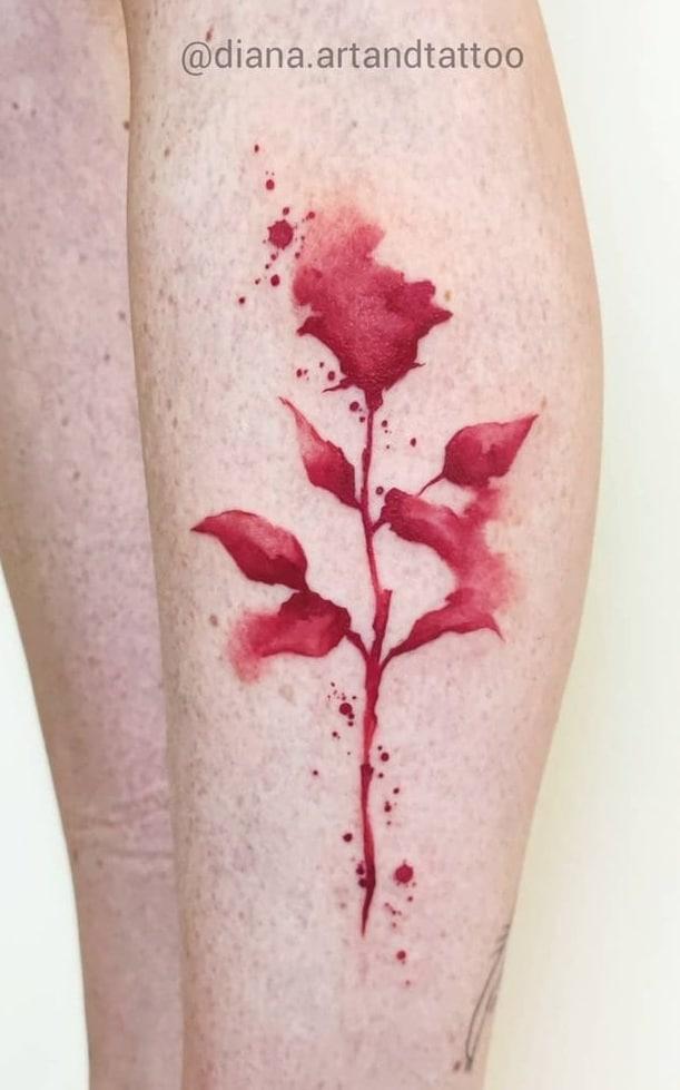 Diana Lopez Coello's Watercolor Tattoo
