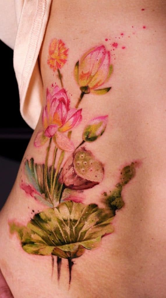 Diana's Watercolor Tattoo