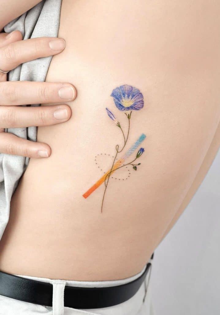 Flower Rib-cage Tattoo