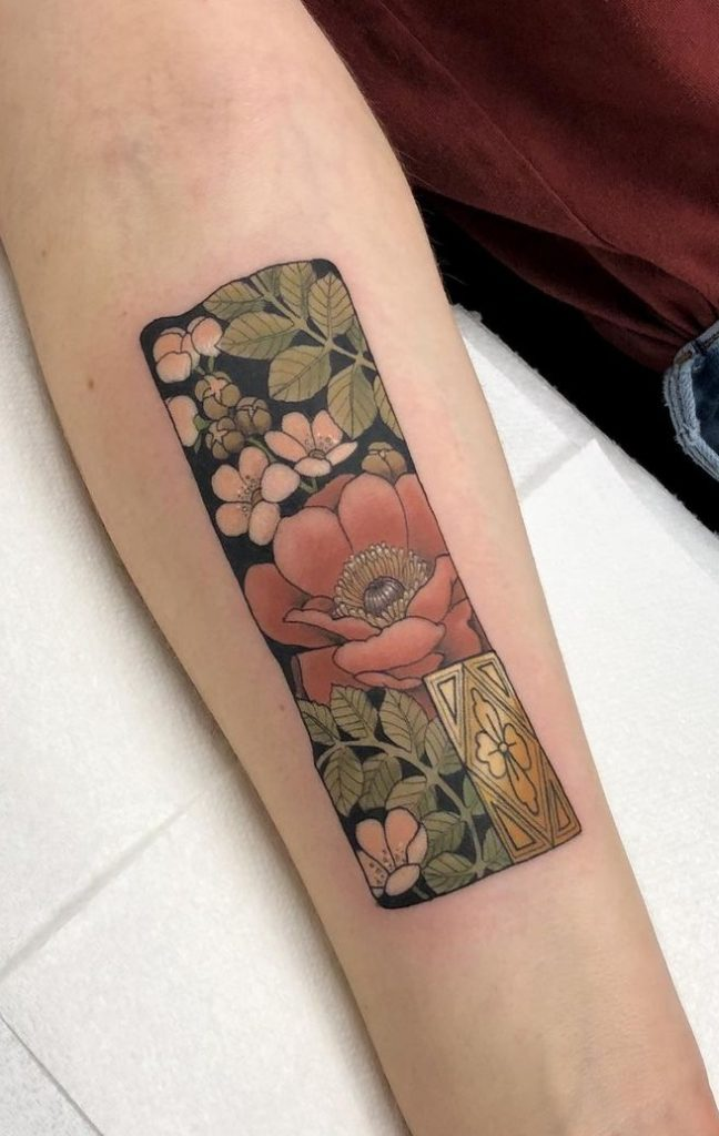 Flower Tattoo on the Forearm