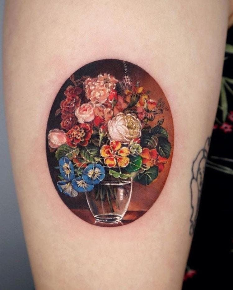 Flower Vase Tattoo