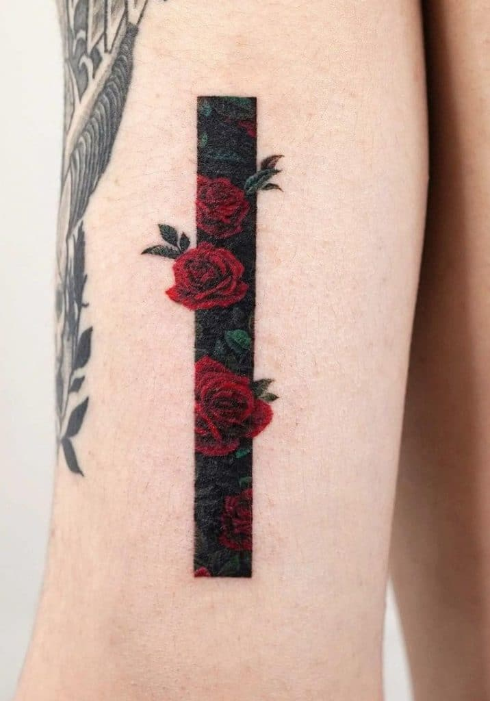 Frame Flower Tattoo