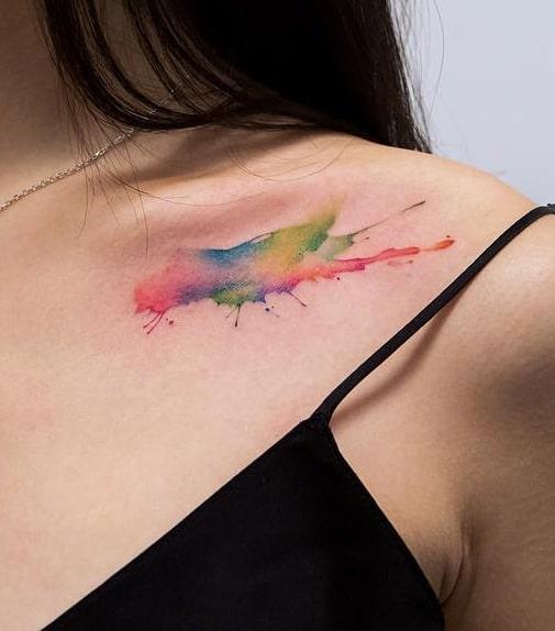 Georgia Grey's Watercolor Tattoo