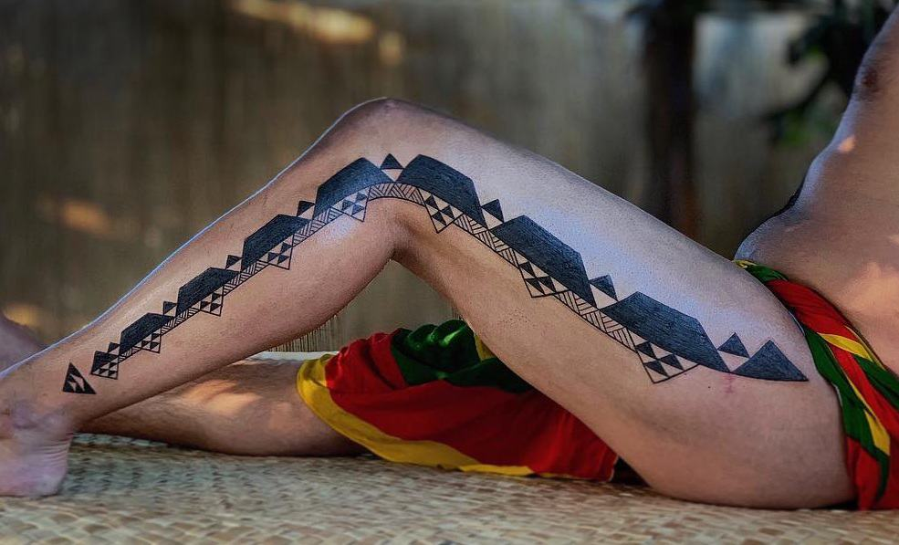 Hawaiian Tribal Tattoo