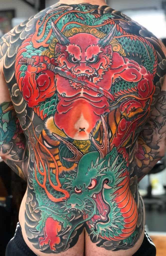 Japanese Green Dragon Tattoo