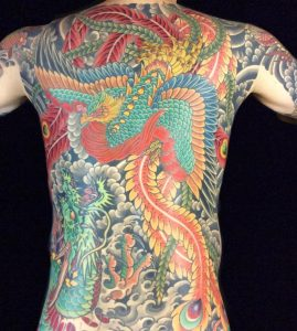 Japanese Dragon and Phoenix Tattoo