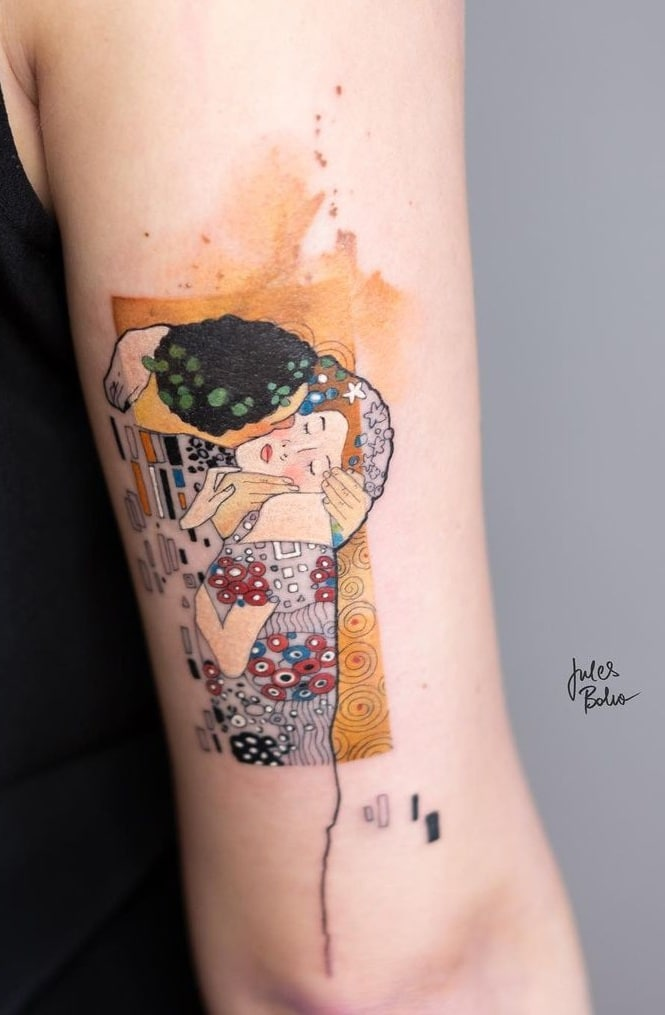 Jules Boho's Watercolor Tattoo