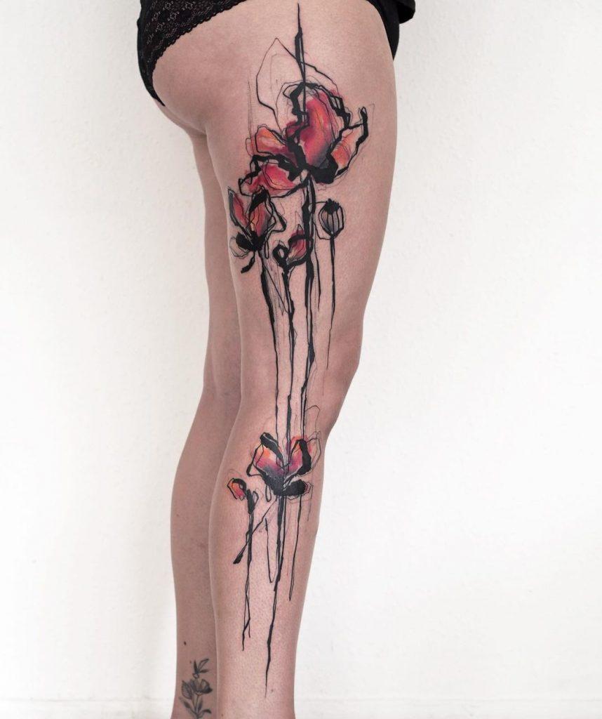 Julia Rehme's Watercolor Tattoo