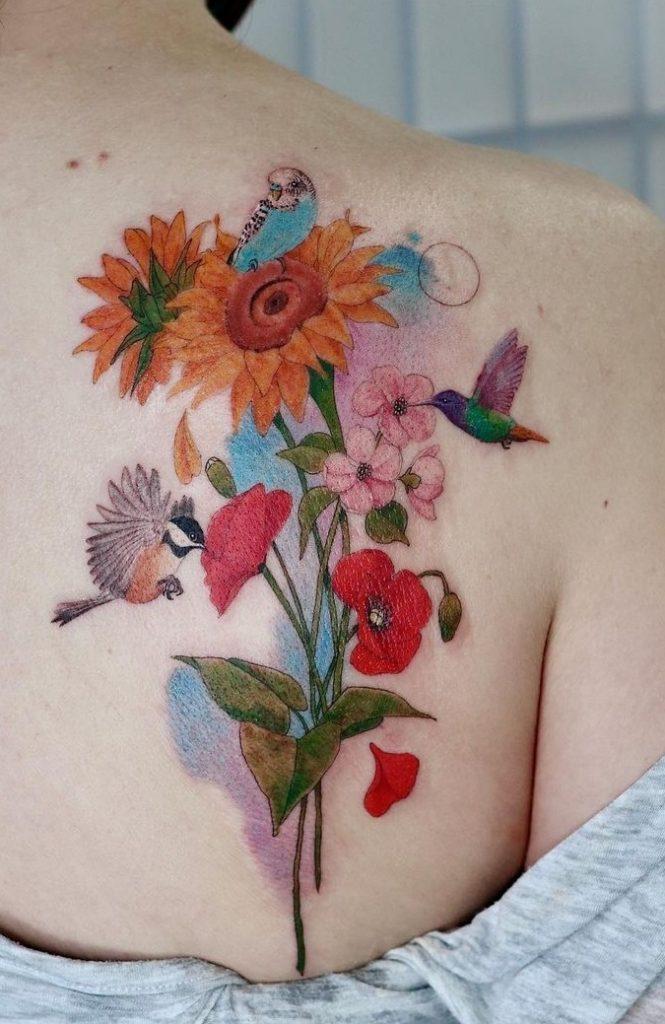 June Jung's Watercolor Tattoo