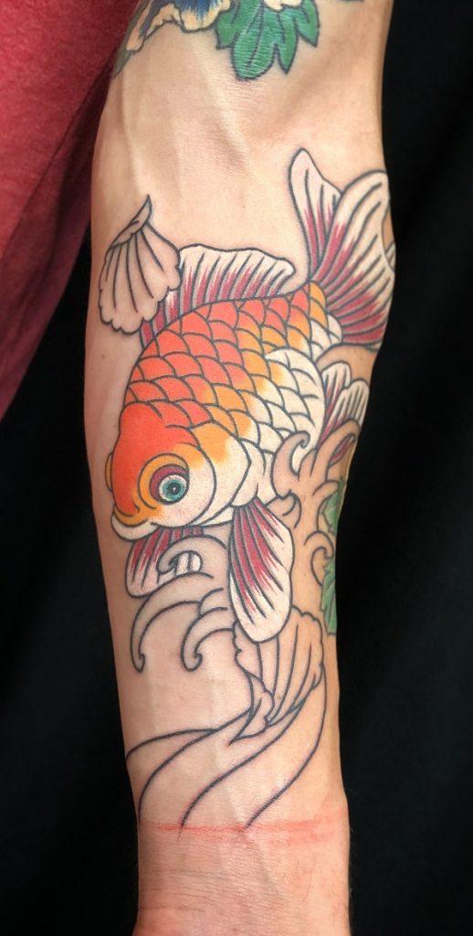 Koi Fish Forearm Tattoo