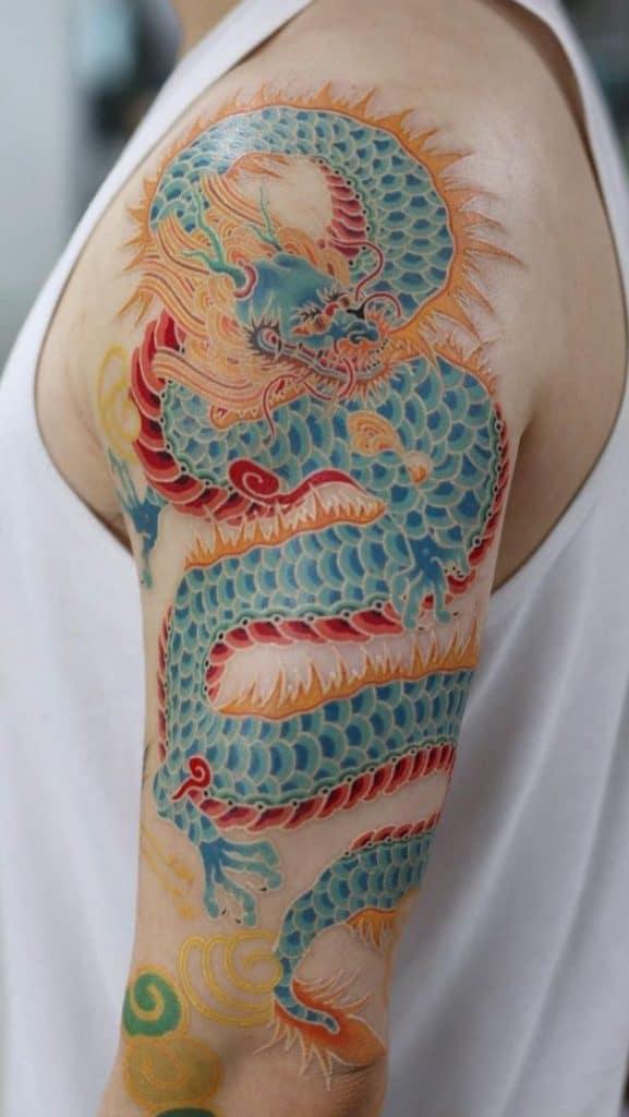 Korean Dragon Tattoo