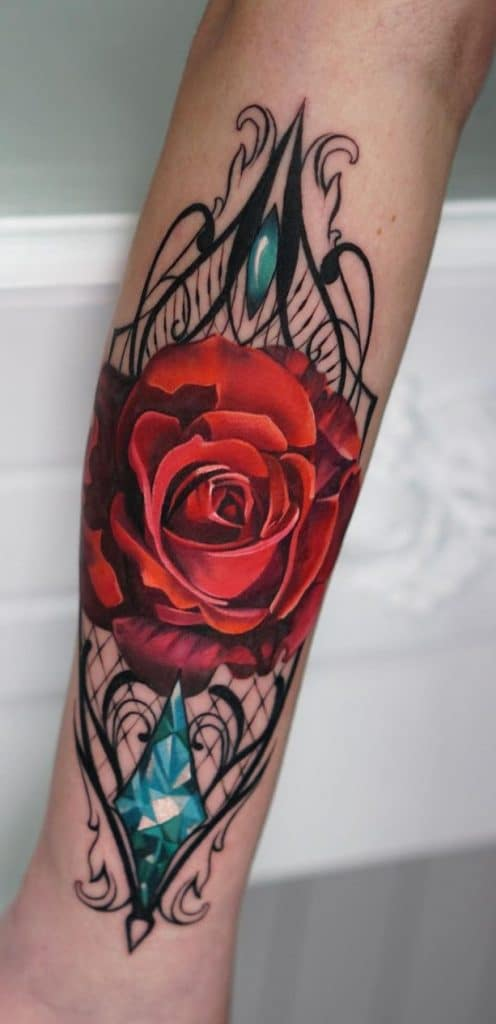 Lace Flower Tattoo