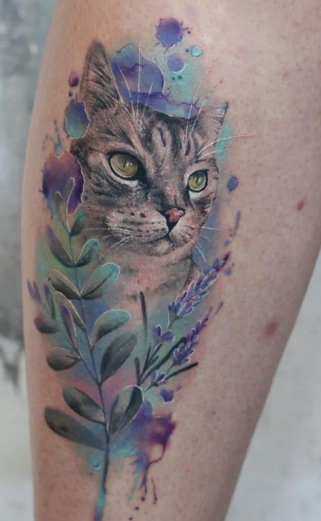 Maggie Paletta's Watercolor Tattoo