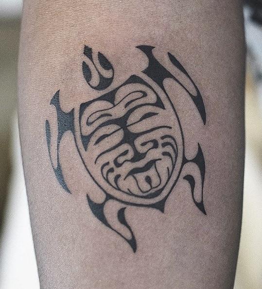 Polynesian Sea Turtle Tattoo