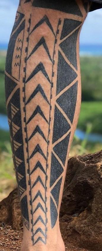 Polynesian Spearhead Tattoo