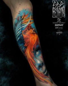 Renato Vivoli's Watercolor Phoenix Tattoo