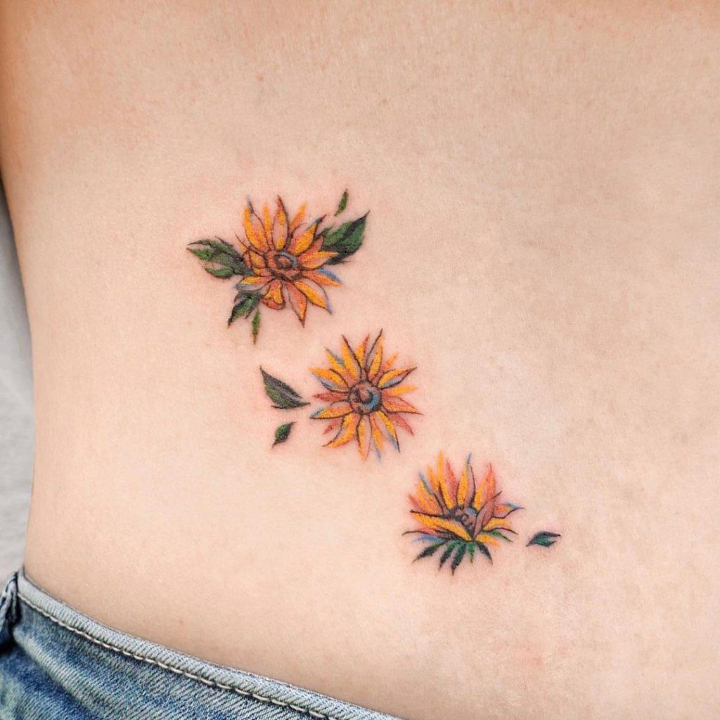 Small Sunflower Tattoo