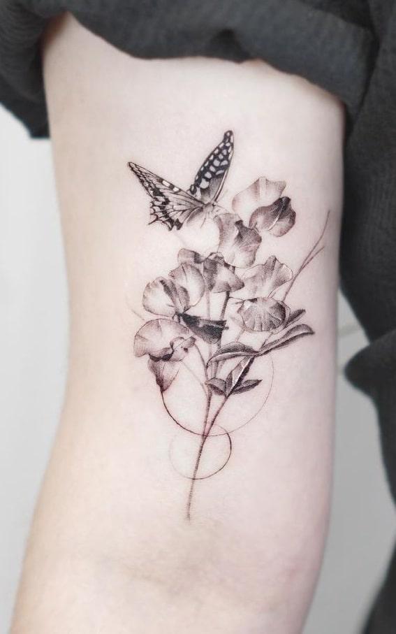 Sweet Pea Tattoo