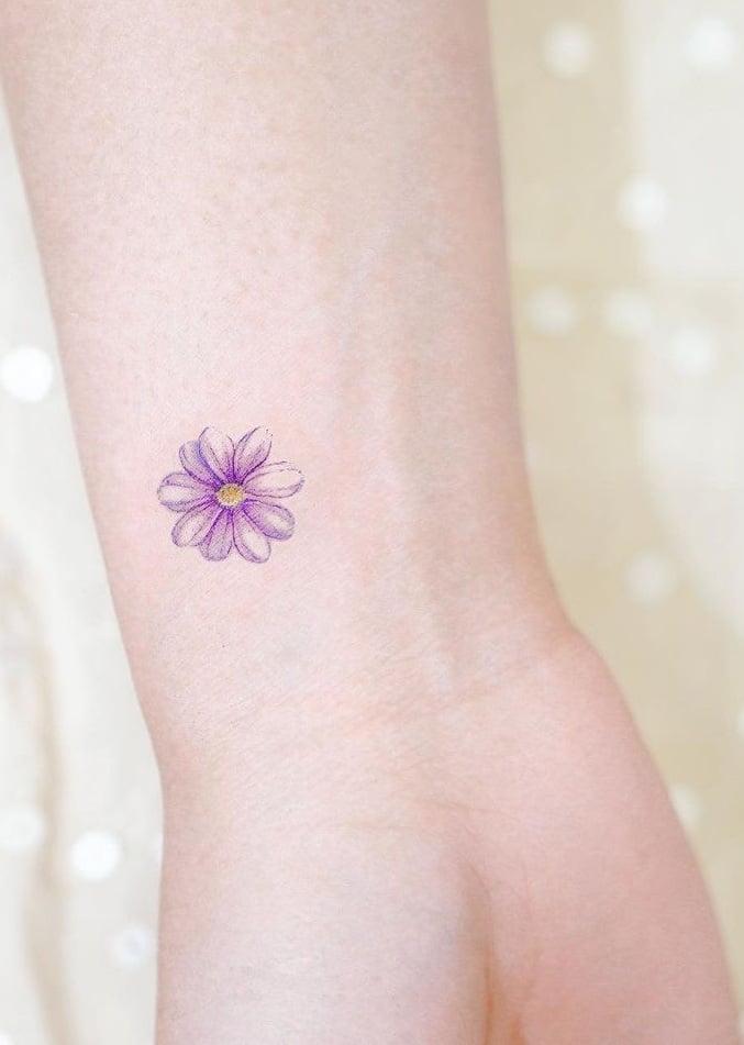 Tiny Flower Tattoo