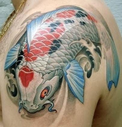 White Koi Fish Tattoo