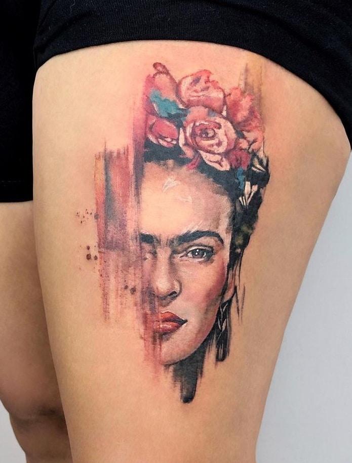 Yeliz Ozcan's Watercolor Tattoo