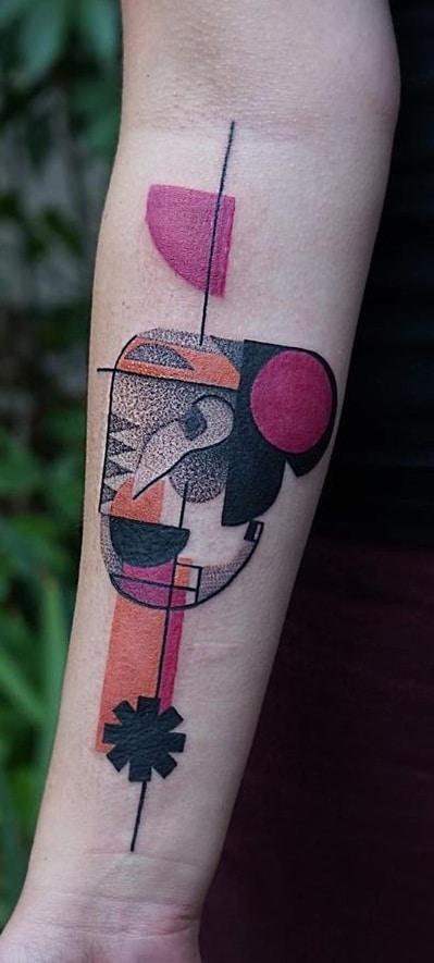 Contemporary Elephant Head Tattoo