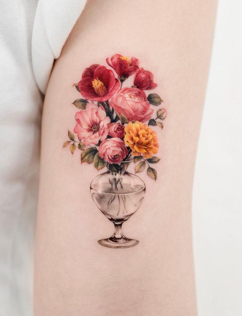 Donghwa Flower Tattoo