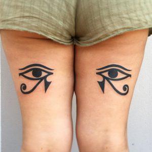 Eye of Horus vs Eye of Ra Tattoo