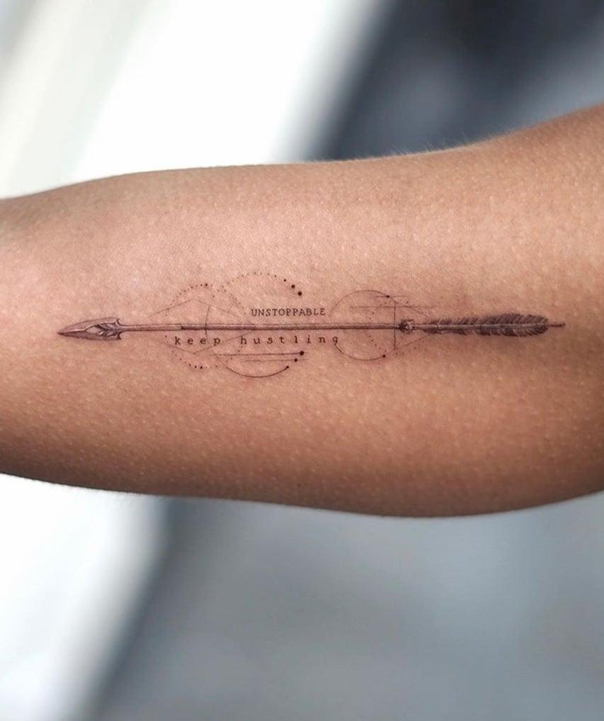 Fine Line Arrow Tattoo